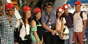 Students visiting CERN